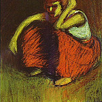 1901 La jupe rouge, Pablo Picasso (1881-1973) Period of creation: 1889-1907