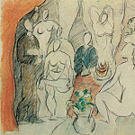 1907 Les Demoiselles Davignon – Esquisse Pour, Pablo Picasso (1881-1973) Period of creation: 1889-1907