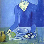 Pablo Picasso (1881-1973) Period of creation: 1889-1907 - 1903 Homme assis
