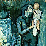 Pablo Picasso (1881-1973) Period of creation: 1889-1907 - 1901 MКre et enfant3