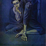 1903 Vieux mendiant et lenfant, Pablo Picasso (1881-1973) Period of creation: 1889-1907