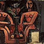 1907 Deux Femmes assises, Pablo Picasso (1881-1973) Period of creation: 1889-1907