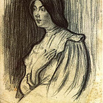 Pablo Picasso (1881-1973) Period of creation: 1889-1907 - 1898 Portrait de Lola