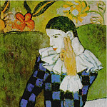 1901 Arlequin accoudВ, Pablo Picasso (1881-1973) Period of creation: 1889-1907