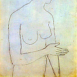 1903 Femme nue2, Pablo Picasso (1881-1973) Period of creation: 1889-1907