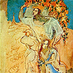 Pablo Picasso (1881-1973) Period of creation: 1889-1907 - 1906 Satyre et jeune fille
