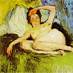 Pablo Picasso (1881-1973) Period of creation: 1889-1907 - 1901 Jeanne (Nu couchВ)