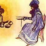 Pablo Picasso (1881-1973) Period of creation: 1889-1907 - 1900 Deux femmes assises