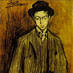 1899 Portrait de Joan Vidal i Ventosa, Pablo Picasso (1881-1973) Period of creation: 1889-1907