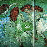 Pablo Picasso (1881-1973) Period of creation: 1889-1907 - 1901 La ronde des fillettes (Les Blondes Chevelures)