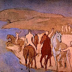 Pablo Picasso (1881-1973) Period of creation: 1889-1907 - 1906 Chevaux au bain