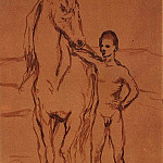 Pablo Picasso (1881-1973) Period of creation: 1889-1907 - 1906 Meneur de cheval nu1