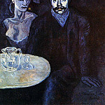 1903 S. Junyer-Vidal avec une femme Е ses cУtВs, Pablo Picasso (1881-1973) Period of creation: 1889-1907