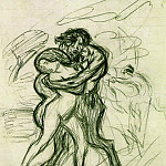 1900 LВtreinte brutale2, Pablo Picasso (1881-1973) Period of creation: 1889-1907