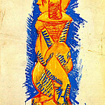 Pablo Picasso (1881-1973) Period of creation: 1889-1907 - 1907 Nu debout de profil