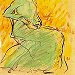 1901 Femme en robe verte assise, Pablo Picasso (1881-1973) Period of creation: 1889-1907