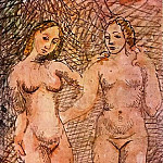 Pablo Picasso (1881-1973) Period of creation: 1889-1907 - 1906 Deux femmes nues1