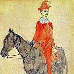 Pablo Picasso (1881-1973) Period of creation: 1889-1907 - 1905 Arlequin Е cheval
