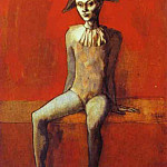 1905 Arlequin sur un canapВ rouge, Pablo Picasso (1881-1973) Period of creation: 1889-1907