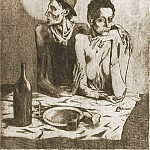 1904 Le repas frugal, Pablo Picasso (1881-1973) Period of creation: 1889-1907