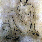 Pablo Picasso (1881-1973) Period of creation: 1889-1907 - 1905 Madeleine nue