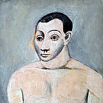 Pablo Picasso (1881-1973) Period of creation: 1889-1907 - 1906 Buste dhomme