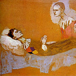 Pablo Picasso (1881-1973) Period of creation: 1889-1907 - 1906 La mort darlequin