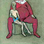 Pablo Picasso (1881-1973) Period of creation: 1889-1907 - 1905 Bouffon et jeune acrobate2