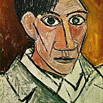 1907 Autoportrait, Pablo Picasso (1881-1973) Period of creation: 1889-1907