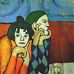 Pablo Picasso (1881-1973) Period of creation: 1889-1907 - 1901Arlequin et son compagnon