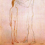 Pablo Picasso (1881-1973) Period of creation: 1889-1907 - 1904 Vieillard aveugle et fillette