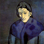 Pablo Picasso (1881-1973) Period of creation: 1889-1907 - 1902 Femme avec un chГle