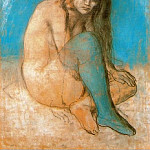 Pablo Picasso (1881-1973) Period of creation: 1889-1907 - 1903 Femme nue assise