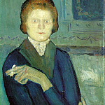 1901 Femme Е la cigarette, Pablo Picasso (1881-1973) Period of creation: 1889-1907