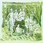 Pablo Picasso (1881-1973) Period of creation: 1889-1907 - 1905 Famille de saltimbanques2