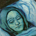 1902 TИte dune femme morte, Pablo Picasso (1881-1973) Period of creation: 1889-1907