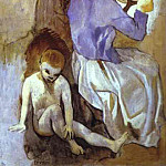 Pablo Picasso (1881-1973) Period of creation: 1889-1907 - 1906 Coiffure