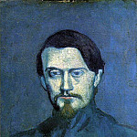 Pablo Picasso (1881-1973) Period of creation: 1889-1907 - 1901 Portrait de Mateu Fernаndez de Soto2