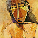 Pablo Picasso (1881-1973) Period of creation: 1889-1907 - 1907 Buste de femme2