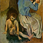 Pablo Picasso (1881-1973) Period of creation: 1889-1907 - 1906 La coiffure