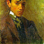 Pablo Picasso (1881-1973) Period of creation: 1889-1907 - 1896 Autoportrait mal coiffВ