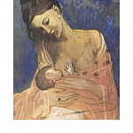 1905 mКre et enfant1, Pablo Picasso (1881-1973) Period of creation: 1889-1907