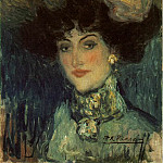 1901 Femme au chapeau Е plumes, Pablo Picasso (1881-1973) Period of creation: 1889-1907