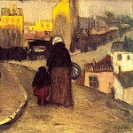 Pablo Picasso (1881-1973) Period of creation: 1889-1907 - 1900 Une rue de Montmartre