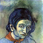 Pablo Picasso (1881-1973) Period of creation: 1889-1907 - 1903 Portrait dune jeune femme