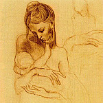 Pablo Picasso (1881-1973) Period of creation: 1889-1907 - 1904 MКre et enfant; Вtude de mains