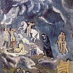1901 Lenterrement de casagemas, Pablo Picasso (1881-1973) Period of creation: 1889-1907