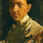 1896 Autoportrait aux cheveux courts, Pablo Picasso (1881-1973) Period of creation: 1889-1907