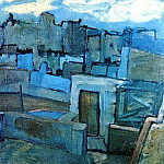 1903 Les toits de Barcelone, Pablo Picasso (1881-1973) Period of creation: 1889-1907