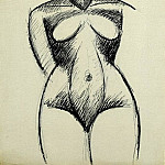 1907 Femme nue de face, Pablo Picasso (1881-1973) Period of creation: 1889-1907